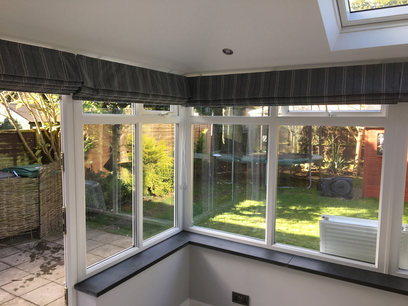 Conservatory roof replacement, internal finish, Northamptonshire