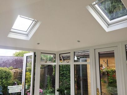Velux windows in solid conservatory roof, Northampton