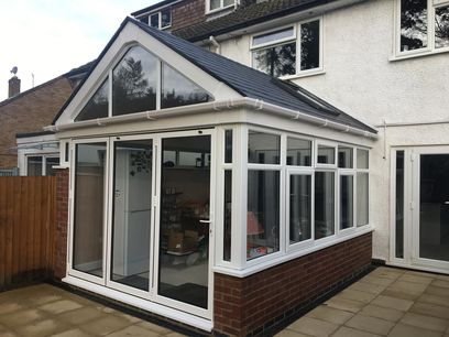 Gabel fronted solid conservatory roof, Northamptonshire