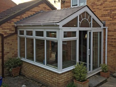 Gable fronted conservatory roof Northamptonshire