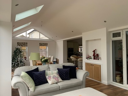Barton Seagrave internal photo of conservatory roof conversion